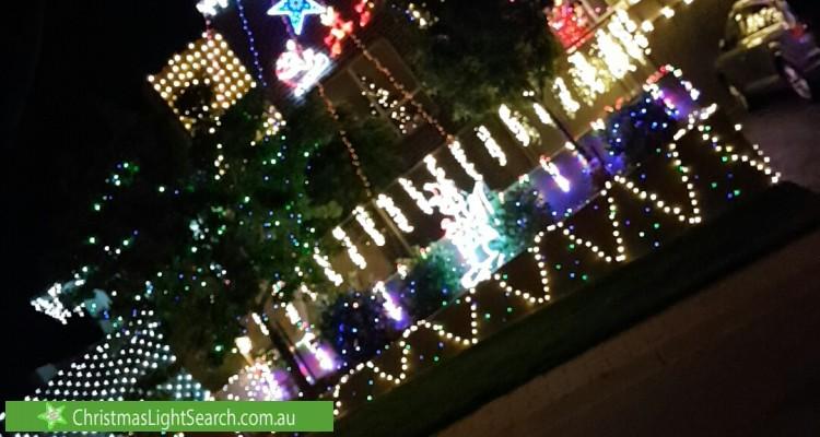 Christmas Light display at  Wark Place, Jerrabomberra