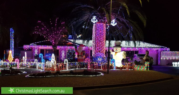 Christmas Light display at 1 Boston Court, Craigmore