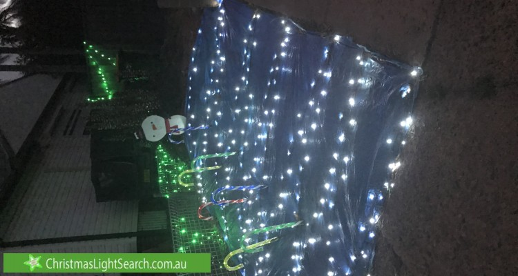 Christmas Light display at 1 Elm Place, Constitution Hill