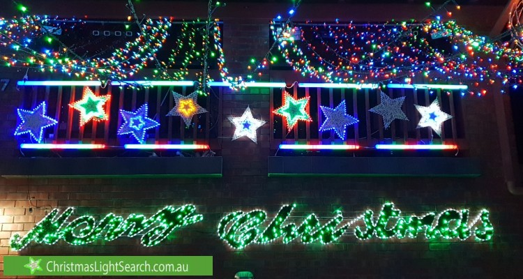 Christmas Light display at Karingal Road, Dernancourt