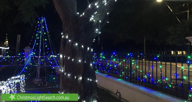 Christmas Light display at 30 Oval Avenue, Woodville South