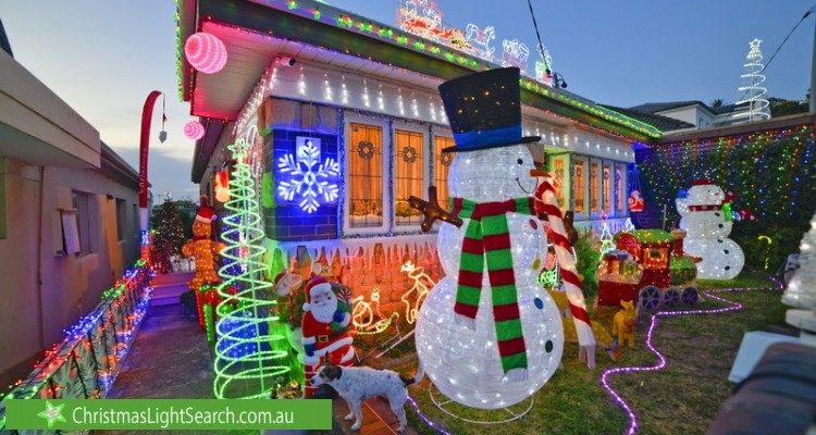 Christmas Light display at 5 Waratah Street, North Bondi