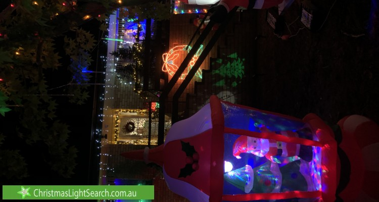 Christmas Light display at  Uther Avenue, Bradbury