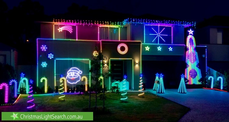 Christmas Light display at 3 D'Ercole Court, Gwelup