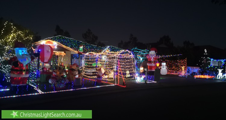 Christmas Light display at 14 Calophylla Way, High Wycombe