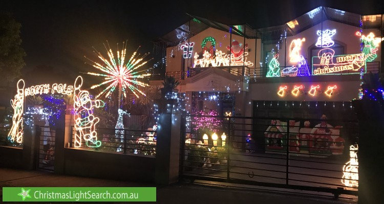 Christmas Light display at 71 South Street, Strathfield