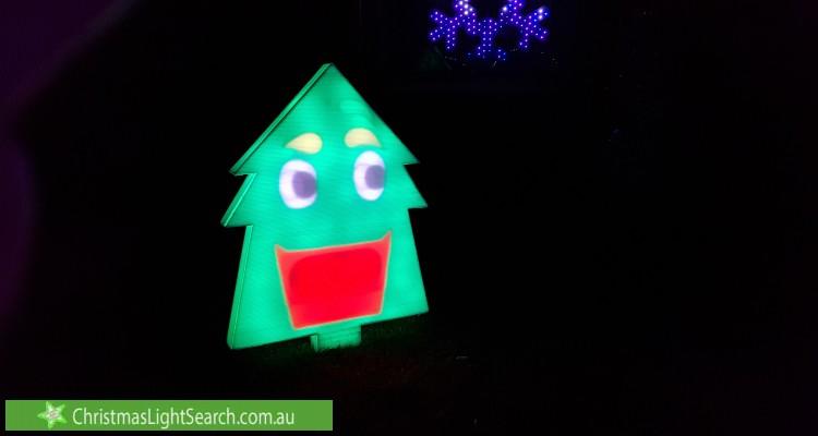 Christmas Light display at 10 Mcgrowdie Place, Gordon