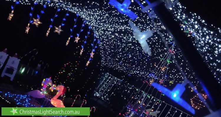 Christmas Light display at 13 Ruthven Street, Gowrie