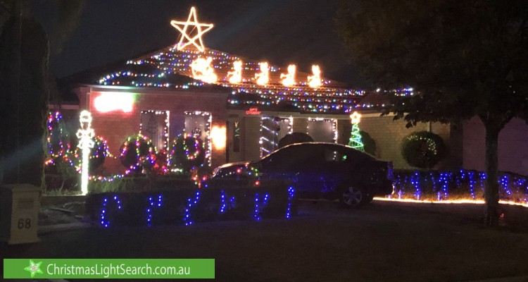 Christmas Light display at 70 Alexandria Boulevard, Canning Vale