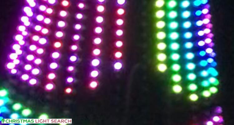 Christmas Light display at 39 Mascoma Street, Strathmore