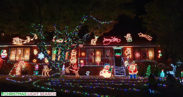 Christmas Light display at Aintree Street, Mooroolbark