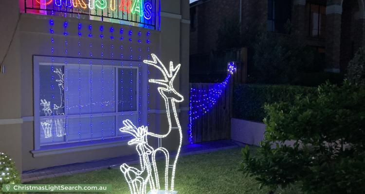 Christmas Light display at 34 Saint Pauls Avenue, Castle Hill