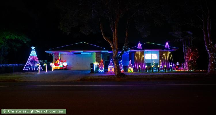 Christmas Light display at 86 College Way, Boondall