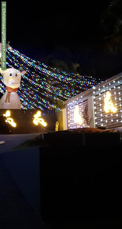 Christmas Light display at 19 Nemarra Street, Wynnum West