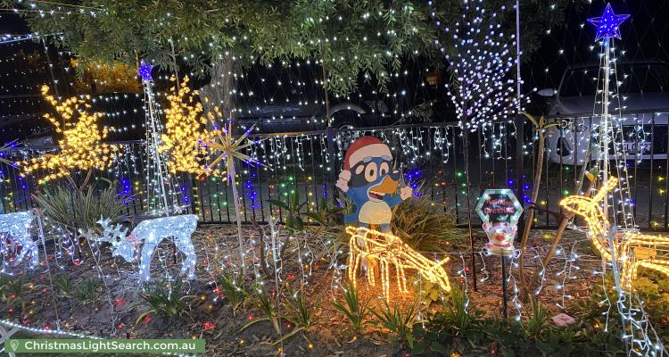 Christmas Light display at 143 Langford Avenue, Langford