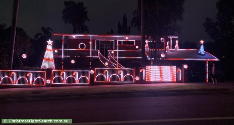 Christmas Light display at 18 Temira Crescent, Larrakeyah