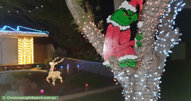 Christmas Light display at 17 Jib Close, Waikiki