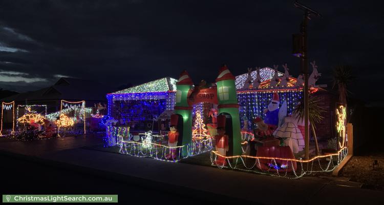 Christmas Light display at 15 Sherwood Road, Australind