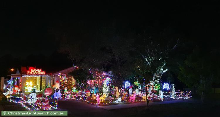 Christmas Light display at 62 Annette Street, Tingalpa