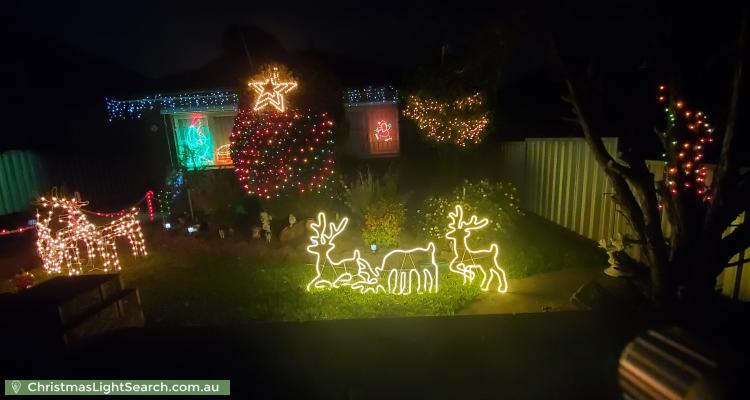 Christmas Light display at 8 O'Neill Street, Guildford