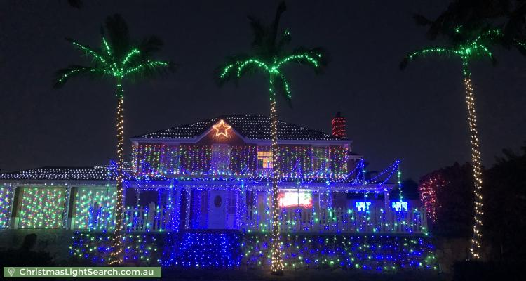Christmas Light display at  Moncrieff Court, Mount Ommaney
