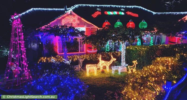 Christmas Light display at 7 Ornata Road, Mount Dandenong