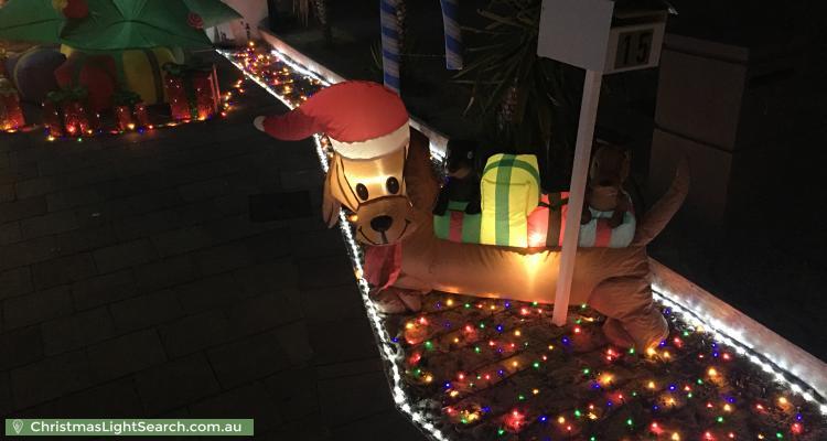 Christmas Light display at 15 Fernleaf Loop, Piara Waters