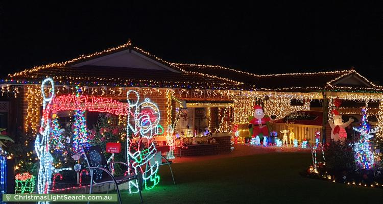 Christmas Light display at  Consulate Court, Thornlie