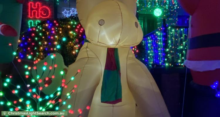 Christmas Light display at 29 Darvall Street, Donvale