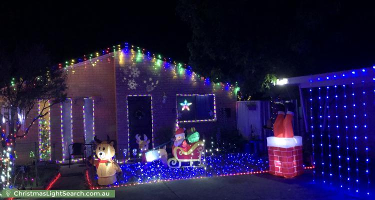 Christmas Light display at  Warby Place, Charnwood