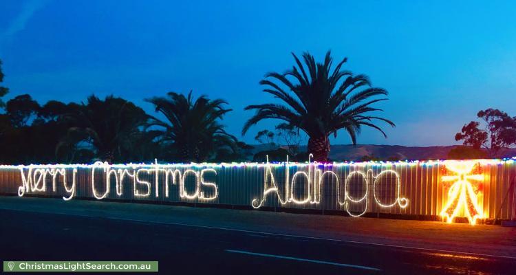 Christmas Light display at  288 Aldinga Beach Road, Aldinga Beach