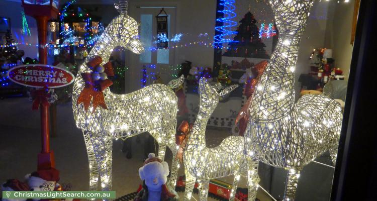 Christmas Light display at 17 Middleton Circuit, Gowrie