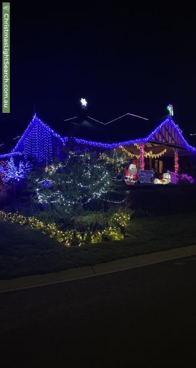 Christmas Light display at 1 Richter Close, Fadden