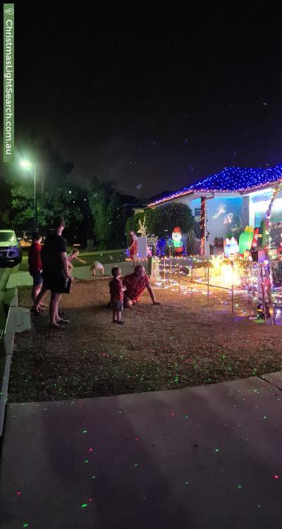 Christmas Light display at 9 Glider Street, North Lakes