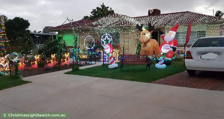 Christmas Light display at  12 Burra Street, Modbury North