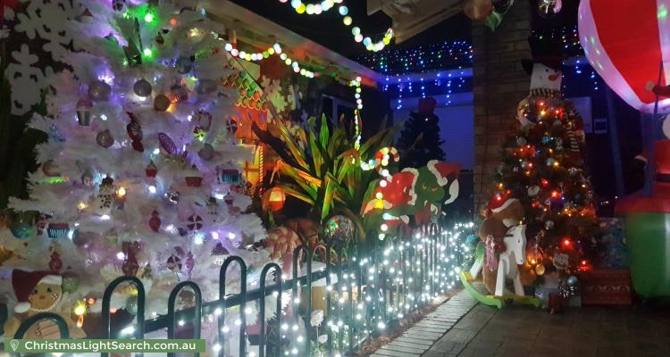 Christmas Light display at 7 Bauer Street, Cannington
