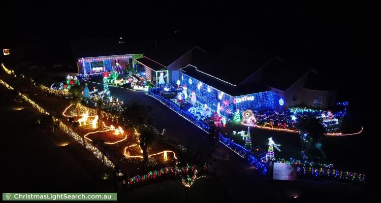 Christmas Light display at 4 Doust Place, Grasmere