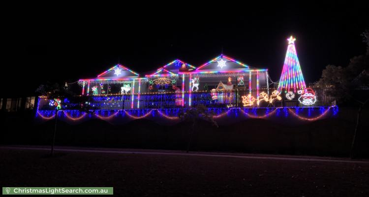 Christmas Light display at 75 Observatory Drive, Clarkson