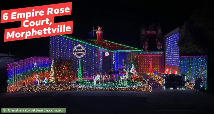 Christmas Light display at 6 Empire Rose Court, Morphettville