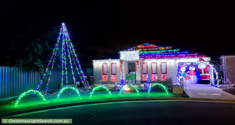 Christmas Light display at  Stacey Court, Munno Para West