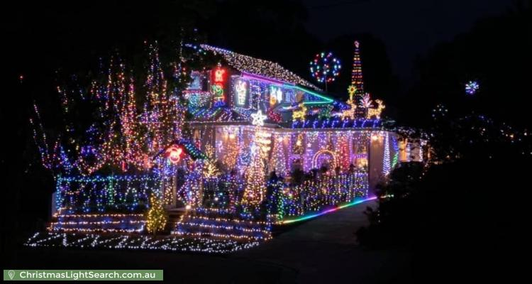 Christmas Light display at 8 Hansford Close, Kilsyth