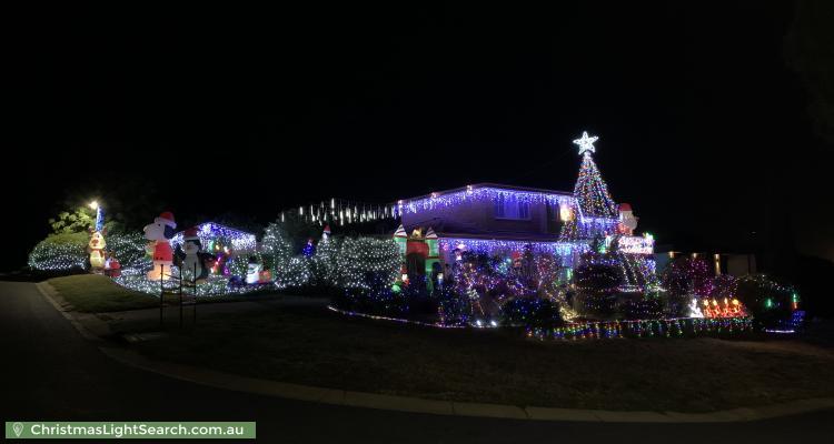 Christmas Light display at 36 Ballarat Street, Fisher