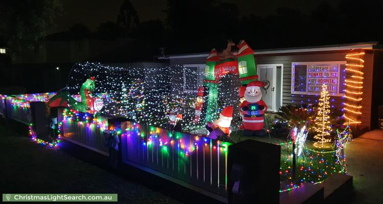 Christmas Light display at 6 Finch Avenue, Rydalmere