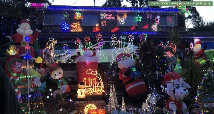 Christmas Light display at 11 Rawdon Court, Boronia