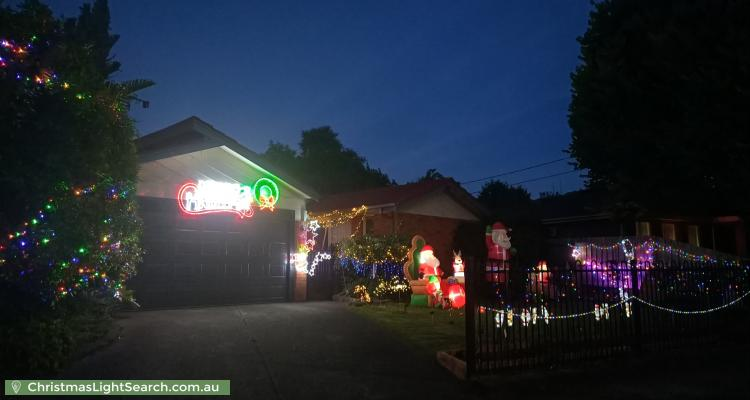 Christmas Light display at 17 Torresdale Drive, Boronia