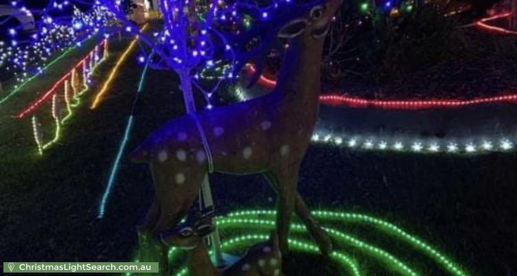 Christmas Light display at 52 Tanbark Circuit, Werrington Downs