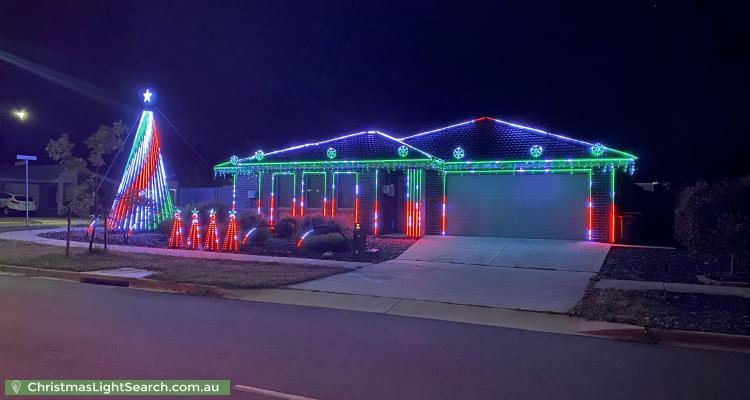 Christmas Light display at 34 Harold Blair Crescent, Moncrieff