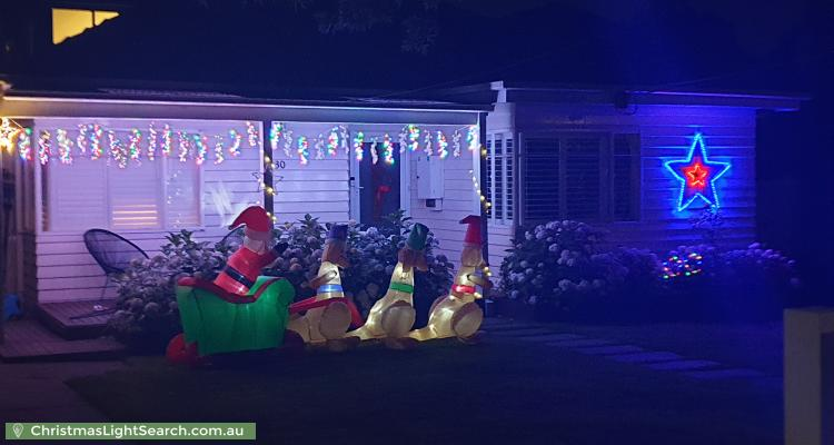 Christmas Light display at  Alwyn Street, Mitcham