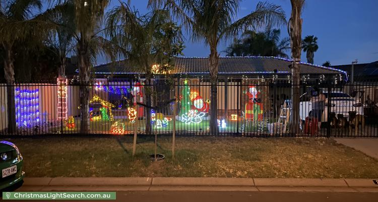 Christmas Light display at 25 Caracas Crescent, Paralowie