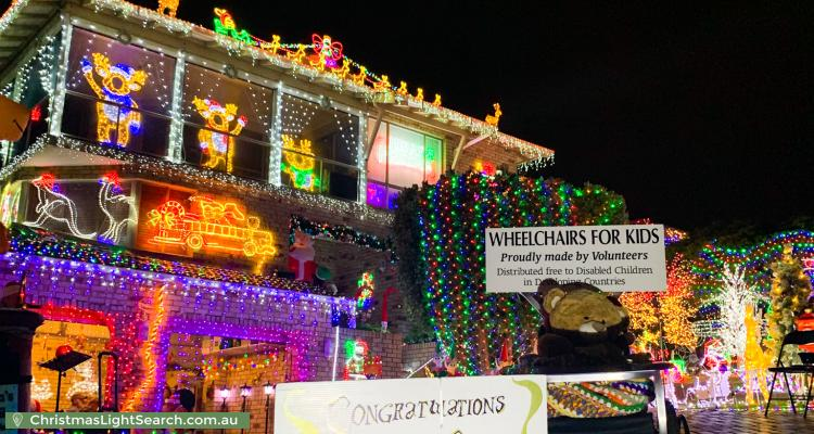 Christmas Light display at  Samson Court, Duncraig
